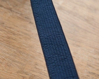 3 yards of Quilted Vintage Trim -  New Old Stock Woven Geometric Navy Blue Belting