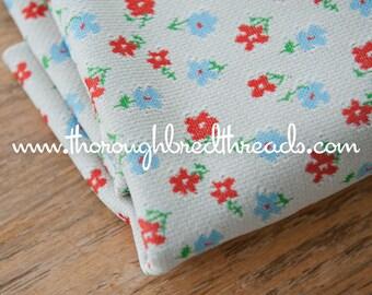 Mod Daisies - New Old Stock  Vintage Fabric 60s 70s Fun Flowers Orange Blue
