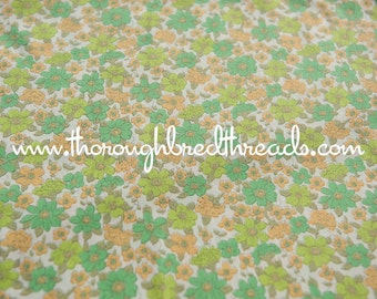 Fun Flower Garden - Vintage Fabric New Old Stock 50s 60s All Over Daisies 36 in wide