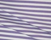 Violet stripes 1 yard knit cotton lycra spandex