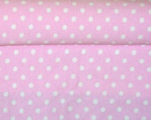 Knit baby pink small dots 1 yard cotton lycra knit