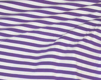 Violet stripes 1 yard cotton lycra knit 1/2""