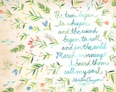 March Morning Art Print | Nature Wall Art |  Katie Daisy | 8x10 | 11x14