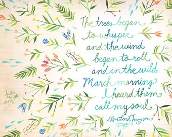 March Morning Art Print | Nature Wall Art |  Katie Daisy | 8x10 | 11x14