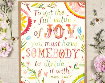 Full Value of Joy - Greeting Card