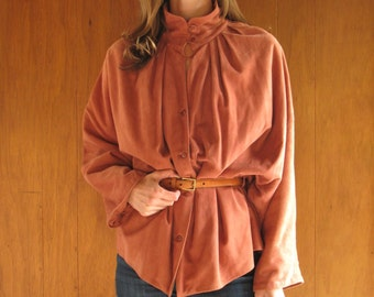 SALMON SOFT SUEDE dolman sleeve jacket