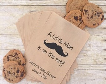 Mustache Baby Shower Treat Bags, Little Man Baby Shower, Team Blue, Baby Shower Favor Bags, Favor Bags, Gift Bags, Candy Buffet Bags, Baby
