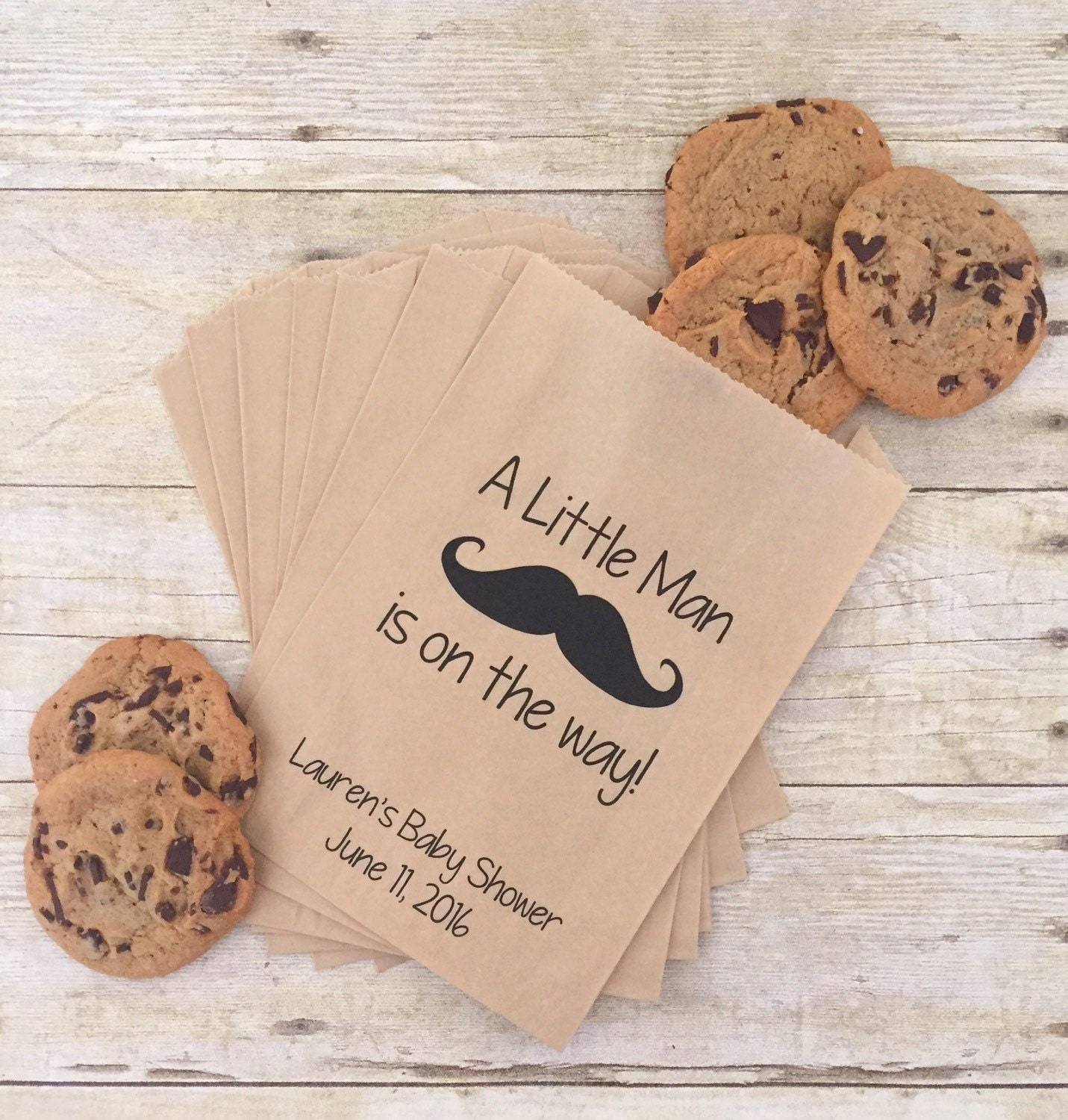 mustache baby shower treat bags little man baby shower team