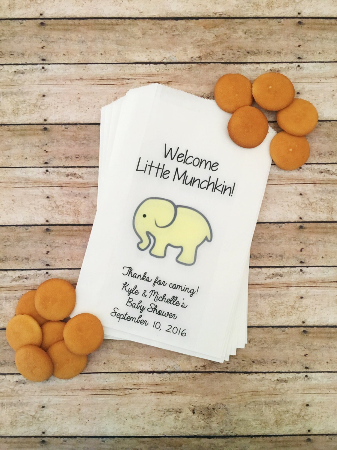 baby elephant shower treat bags elephant baby shower team