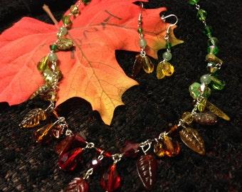 Equinox necklace earrings set OOAK