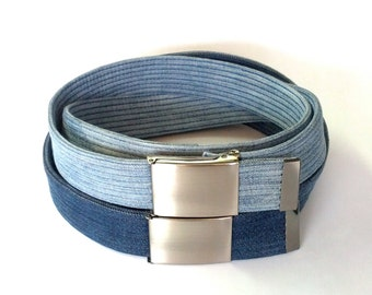 Denim on denim jeans belt men's and women's