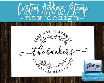 Return Address Stamp - Custom address Stamp - Handwriting Script - Personalized SELF INKING Wedding Stationery Stamper - (157)
