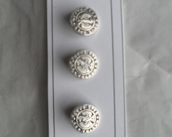 Silvertone Metal Buttons