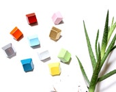 Geometric Magnet Set of 10 - Painted Colorful Keyboard Key Magnet Set - Rainbow - Free U.S. Shipping