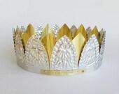 I Am The Queen -  handmade crown, renaissance, fairy, steampunk, shabby, santos, cake topper