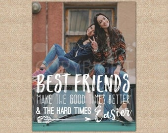 Best Friend Birthday Gift, Friendship Quote, Graduation Gift, Photo Art Print, Wall Art / ArtPaper Print or Canvas Print / H-Q67-1PS ZZ1 05S