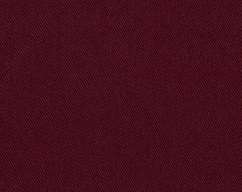 Recycled Water Bottle ORGANIC Cotton Blend Eco Twill Fabric BURGUNDY MULTIPURPOSE