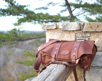 Moose Hide Parachute Bag / Moose Hide Backpack / Handcrafted / Leather Bag / Minimalist Leather Bag / Leather Backpack