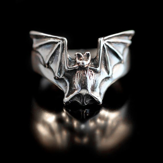 bat ring silver bat flight ring bat jewelry silver bat