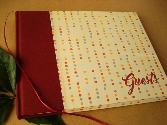 SALE! Guest Book: Wedding Guest Book, Bar Mitzvah Guest Book, Anniversary Party Guest Book, FUN Birthday Party Guest Book