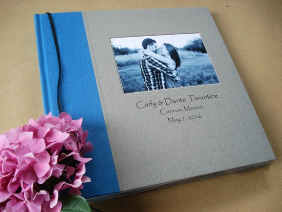 "Wedding Guest Book Photo Booth Album / Personalized Scrapbook. Custom Anniversary Album. You Design the Cover. 10 x 10"". Photobooth."