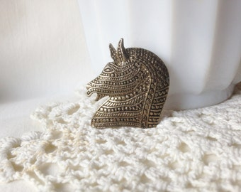 Vintage Horsehead Brooch Horse Pin Equine Pin