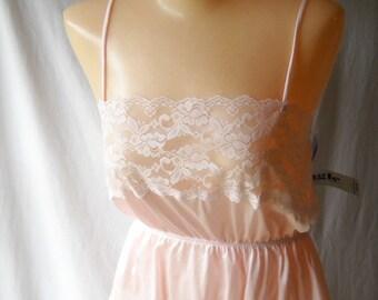 Vintage Teddie Pink Lace Teddie Triangle Lingerie Undergarment