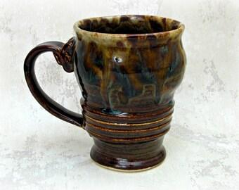 Mug in Mottled Browns
