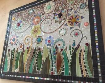 ON SALE* until 8/31st In Bloom Vl Original Mosaic Art