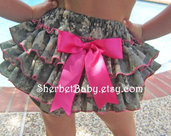Oh So Sweet Daddy's Girl US Army ACU Digital Camouflage Classic Style Bloomers Lined Bloomer