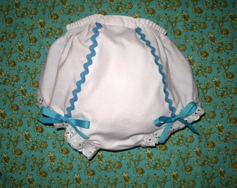 Turquoise Rick Rack Bloomers