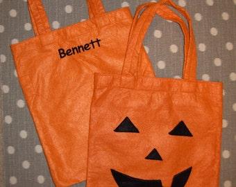 Orange Jack O Lantern Treat Bag