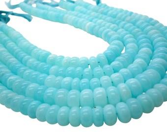 Blue Peruvian Opal Beads, Peruvian Opal Beads, Blue Opal Beads, Rondelles, SKU 5036