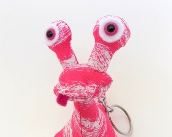 Cute Keychain, Stocking Stuffer Toy for Girls, Alien Keychain, Monster Keychain, Zipper Pull by Adopt an Alien named Candy