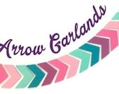 Chevron Garland, Arrow Garland, Arrow Banner, Boho Wedding Decor, Pow Wow, Glamping Party