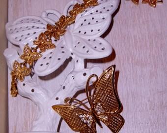 BUTTERFLY Pin Earring Holder BUTTERFLIES Bracelet Vintage Collection