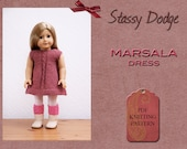 Knitting Pattern for American Girl Doll Marsala Dress Spring Summer Doll Clothes Outfit Stassy Dodge Designs PDF Instant Download