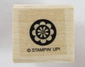 Stampin Up! - Flower in Circle Rubber Stamp #RS138