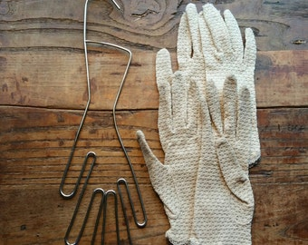 Vintage Glove Form and Gloves