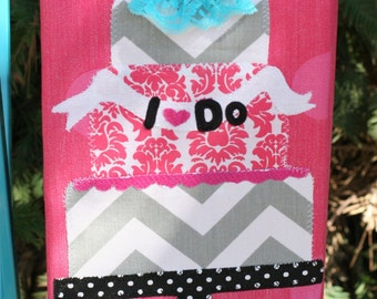 I Do WEDDING Ruffled Kitchen Towel