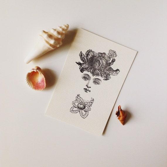 Miss Cabbage Letterpress Print