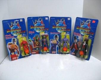 Vintage Lot of 4 Defenders of the Earth Action Super Hero Figures MOC Flash Gordon Ming Phantom Mandrake 1985 Galoob