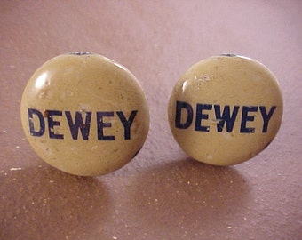 Thomas Dewey Vintage Political Campaign Button Cuff Links - Free Shipping to USA