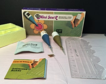Vintage Mini Sew R Sewing And Marking Kit