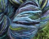 Handpainted wool yarn, handspun yarn, BFL wool worsted yarn, Harry Potter yarn-Gillyweed