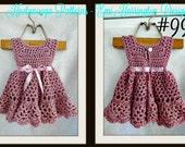 Crochet baby dress pattern, Crochet baby clothes, Crochet pattern baby, Crochet dress pattern, Crochet baby pattern, Crochet baby dress,#990