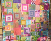 Stripes and Squares Quilt-Made with Kaffe Fassett Fabric