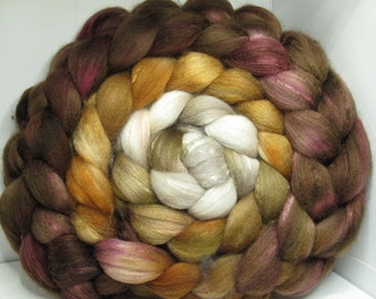 Organic Polwarth/Bombyx 80/20 Roving Combed Top 5oz - Niffler 2