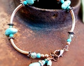 Turquoise and Copper southwestern bracelet