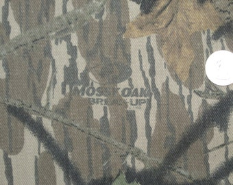 "Mossy Oak Break Up Camouflage Twill Fabric 100 percent Cotton Denim 60"" wide BTY"